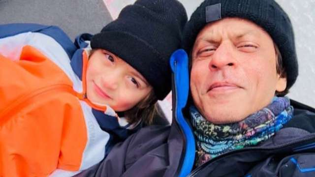 AbRam with Shah Rukh Khan