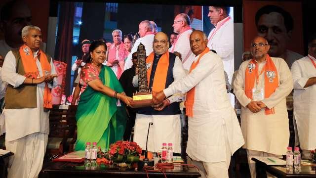 Amit Shah and Vasundhara Raje in Jaipur
