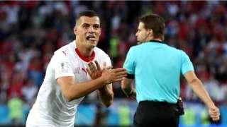 FIFA to investigate Swiss Granit Xhaka, Xherdan Shaqiri's double-eagle cele...