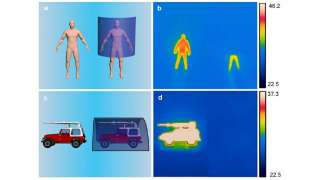 Novel 'stealth' sheet can hide objects from infrared cameras