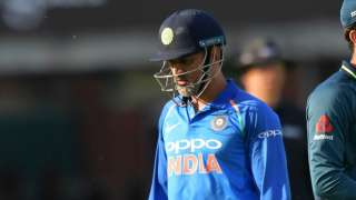 MS Dhoni during the second ODI