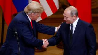 No POTUS as tough on Russia: After Helinski disaster, Trump tries to save f...