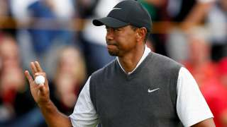 Tiger Woods in action on Saturday