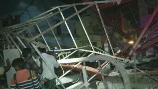 scaffolding collapses in Chennai