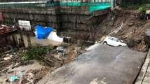Mumbai rains: Approach road to Wadala's Lloyd's Estate caves...
