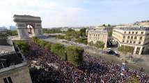 World Cup 2018: Crowds pack Champs Elysees as French World Cup winners...