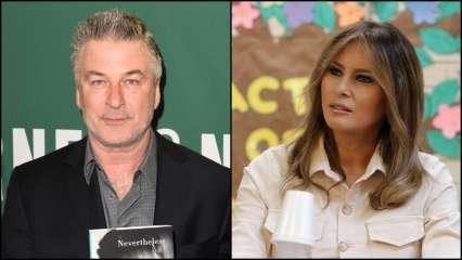 Alec Baldwin and Melania Trump